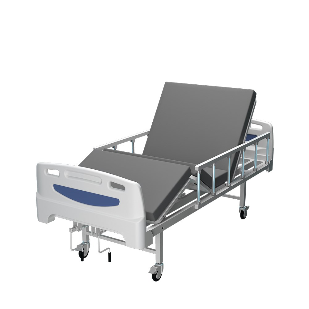 2 cranks manual hosptial bed