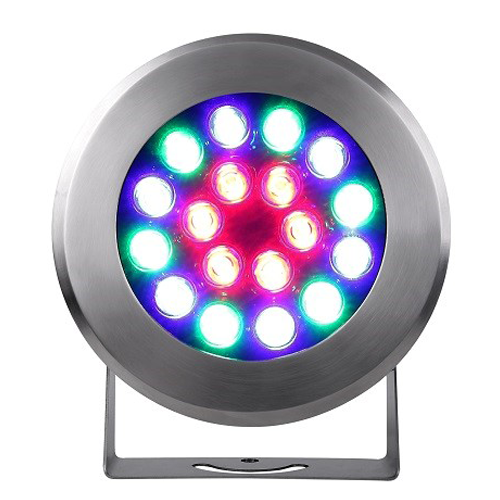 Full Color Stainless Steel LED Underwater Spotlight