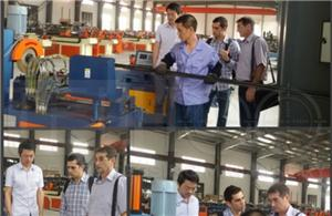 Welcome Our Brazil Customers To Visit Our Automatic Pipe Cutting Machine Factory