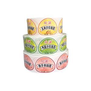 Custom food label stickers