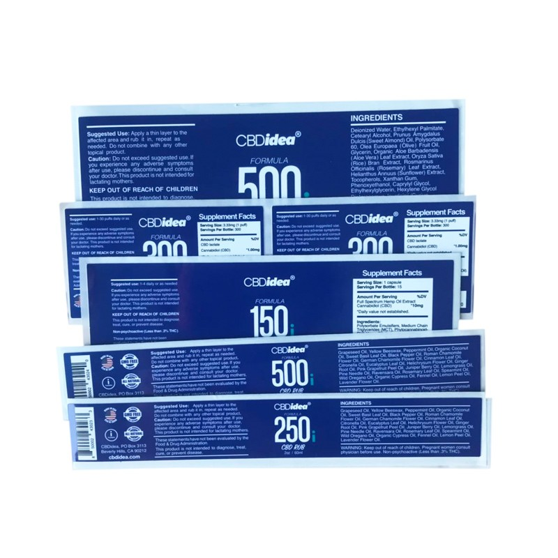 CBD labels Manufacturers, CBD labels Factory, Supply CBD labels