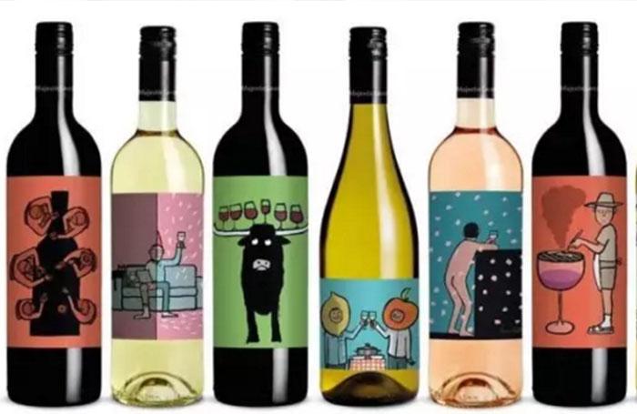wine bottle neck label