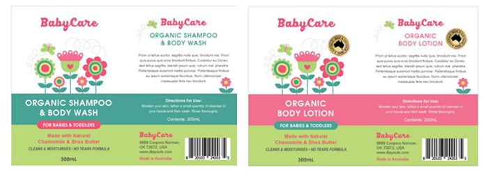 Bath and Body Labels
