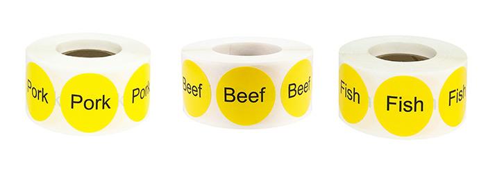 meat deli labels