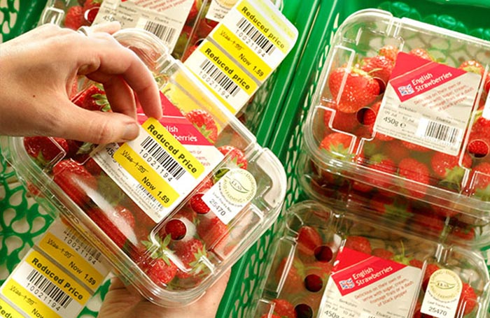 supermarket price label