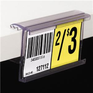 Gondola shelf price labels