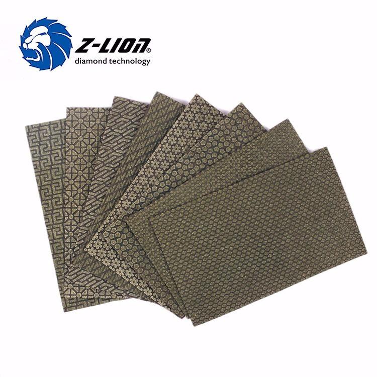 Z Lion Diamond Sanding Paper Electroplated Polishing Paper Sheet