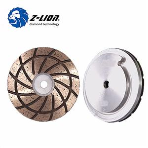 125mm Aluminum Snail Locked Diamond Edge Polishing Wheels