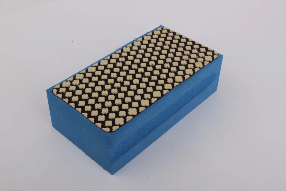 Foam Backed Diamond Hand Polishing Pads For Glass