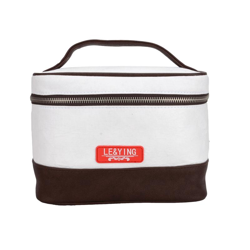 Shopperbag Damentasche 2 in 1 mit Kosmetiktasche Damen Handtasche Khaki