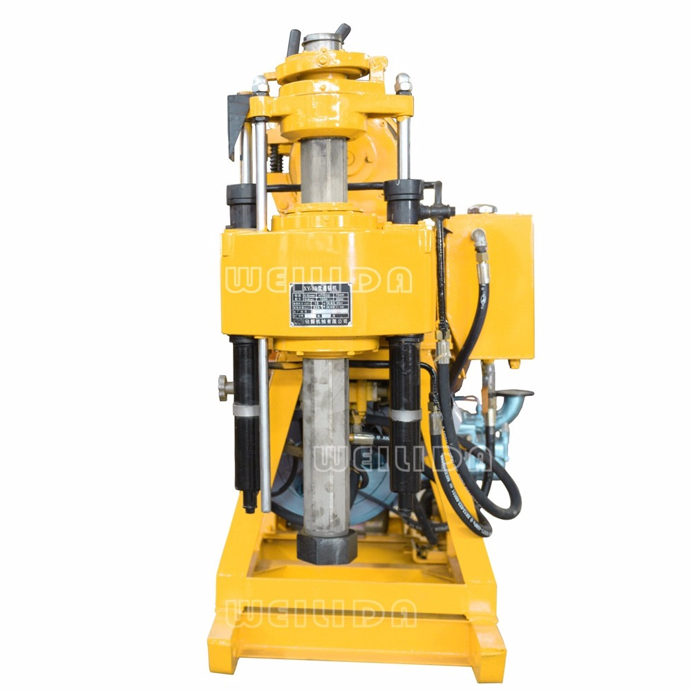crawler type water well drilling rig machine, assise probe rig, mineral probe rig, 1000m water well rig