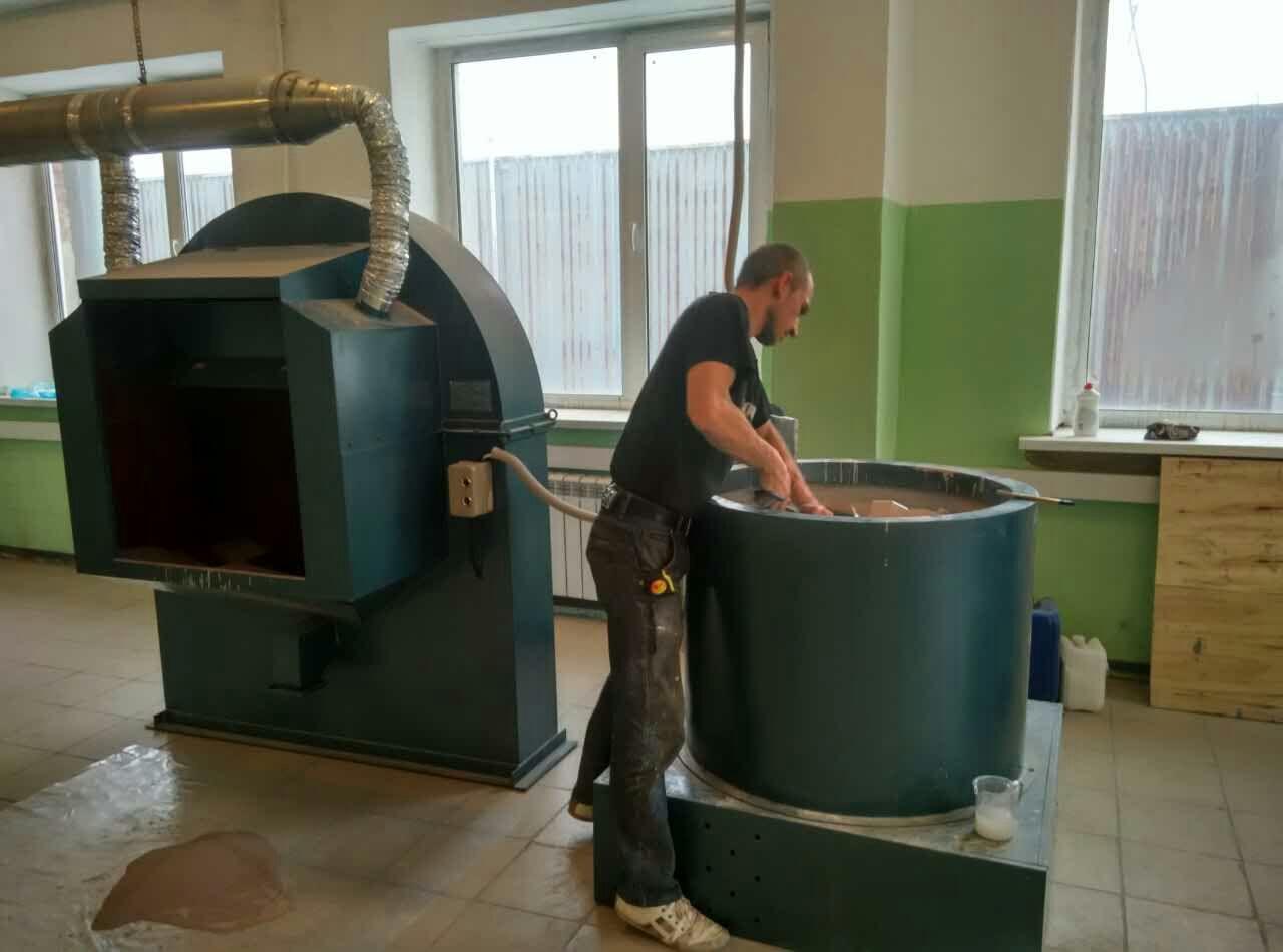 precision casting production line