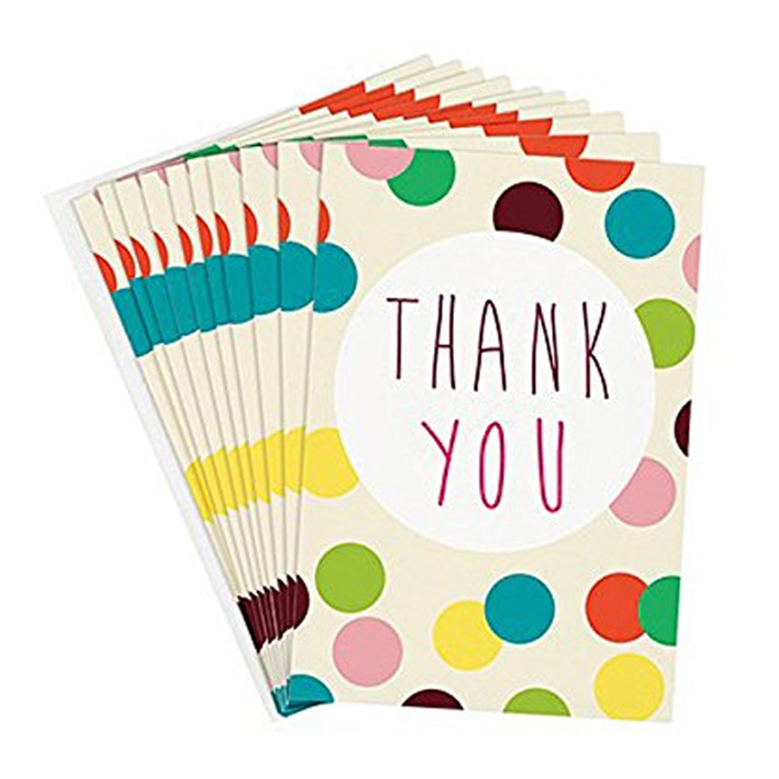 supply custom a5 size art paper folded thank you card