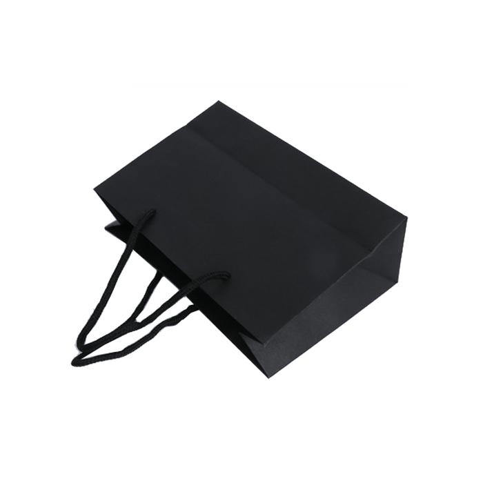 supply custom black paper bags printing wholesale factory