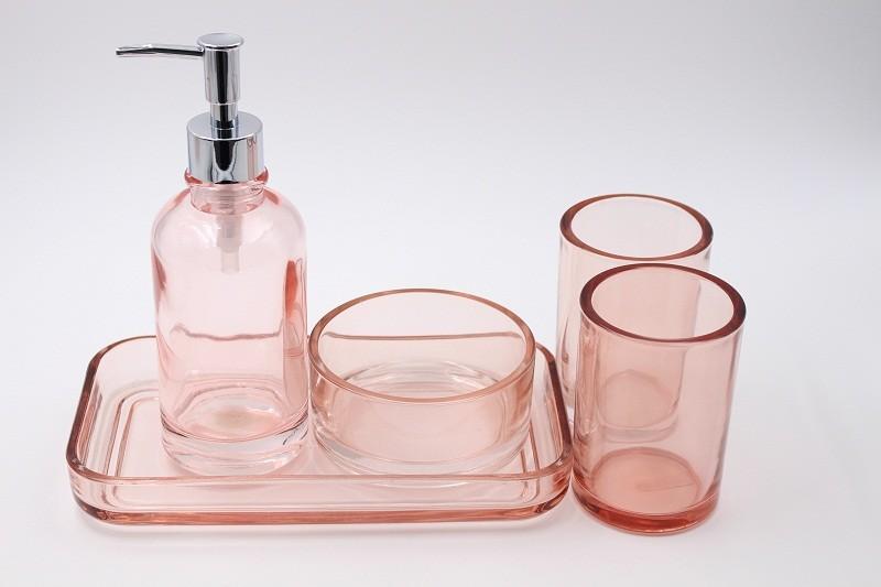Badkamer Accessoires Roze : Roze zonnebrandbad badkameraccessoires vijf sets lage prijs roze