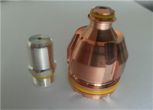 Tapa de gas giratoria para soplete de plasma