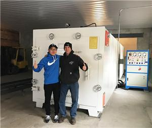 Our Vacuum Kiln Get High Priase From The Customer In NY,USA
