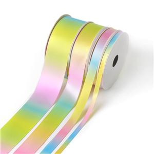 Light Color Ombre Rainbow Satin Ribbon