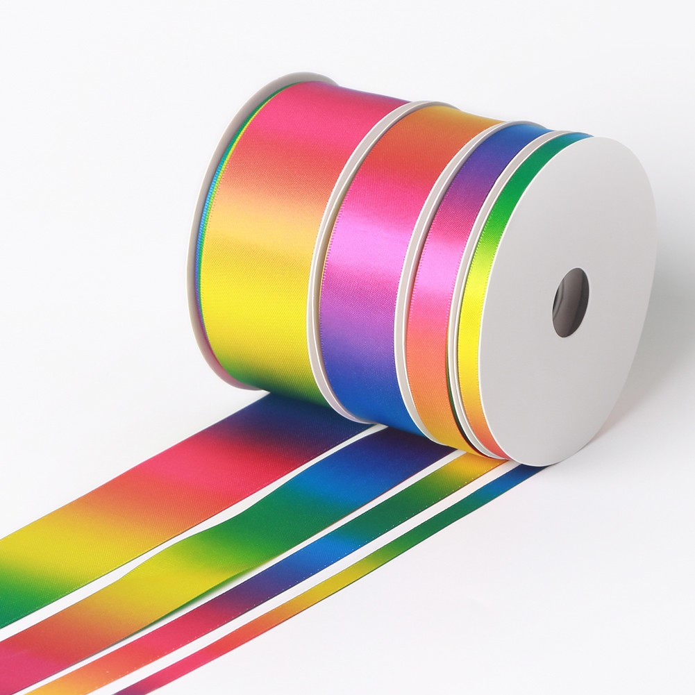 Double Face Dark Color Ombre Rainbow Ribbon Manufacturers, Double Face Dark Color Ombre Rainbow Ribbon Factory, Supply Double Face Dark Color Ombre Rainbow Ribbon