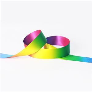 Double Face Dark Color Ombre Rainbow Ribbon