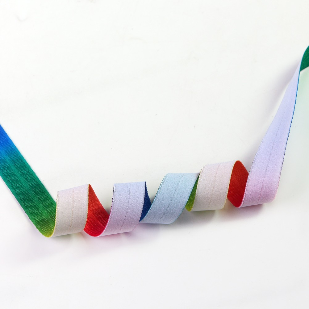 Single Face Elastic Rainbow Ribbon Manufacturers, Single Face Elastic Rainbow Ribbon Factory, Supply Single Face Elastic Rainbow Ribbon