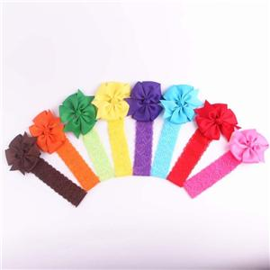Ribbon Bow Lace Headband For Baby