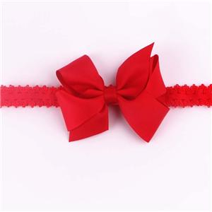 Polyester Satin Bow Headband for Baby and Girls