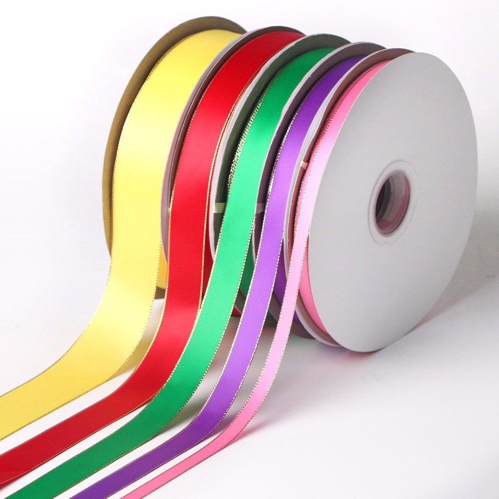Gold Or Silver Woven Edge Satin Ribbon Manufacturers, Gold Or Silver Woven Edge Satin Ribbon Factory, Supply Gold Or Silver Woven Edge Satin Ribbon