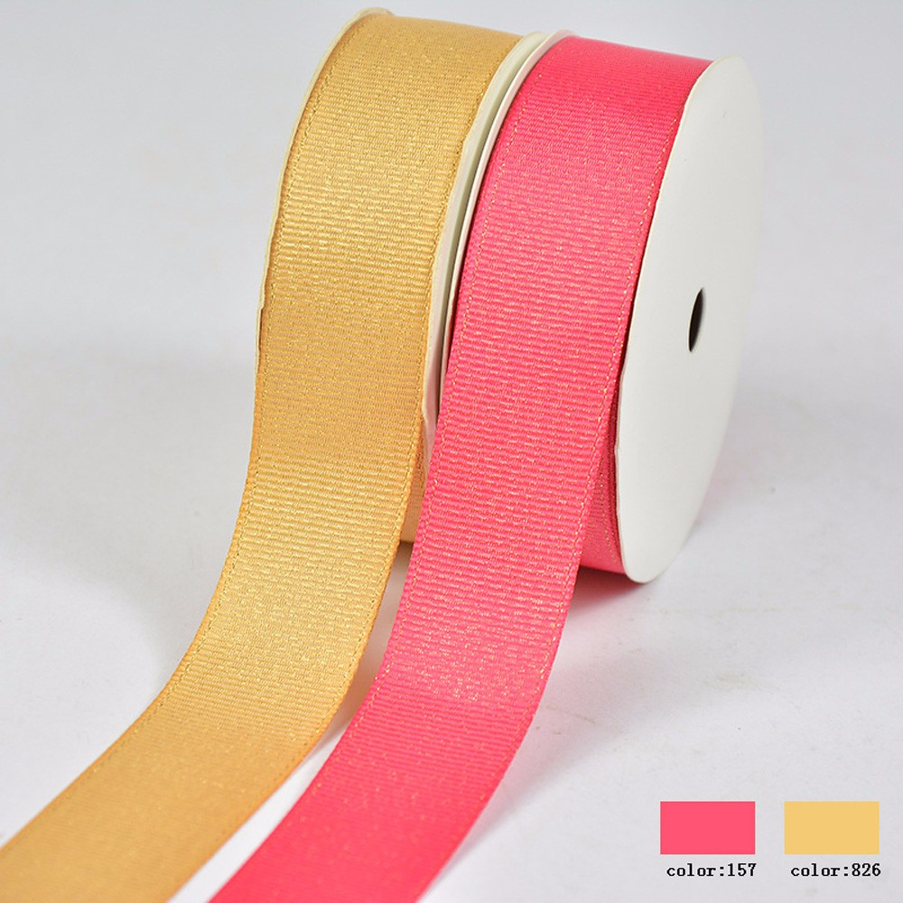 Gold Silver Metallic Grosgrain Ribbon Manufacturers, Gold Silver Metallic Grosgrain Ribbon Factory, Supply Gold Silver Metallic Grosgrain Ribbon