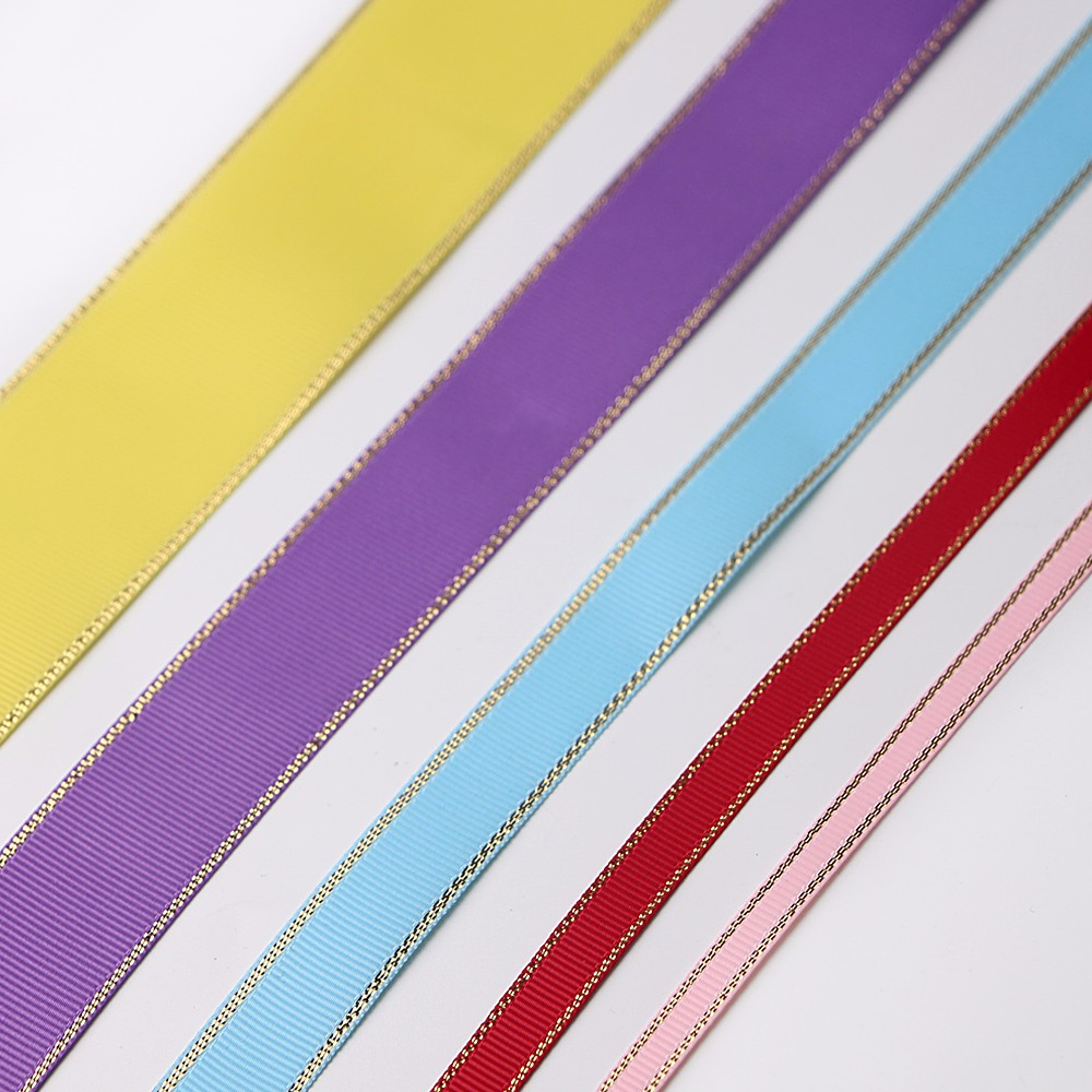 Gold Silver Woven Edge Grosgrain Ribbon Manufacturers, Gold Silver Woven Edge Grosgrain Ribbon Factory, Supply Gold Silver Woven Edge Grosgrain Ribbon