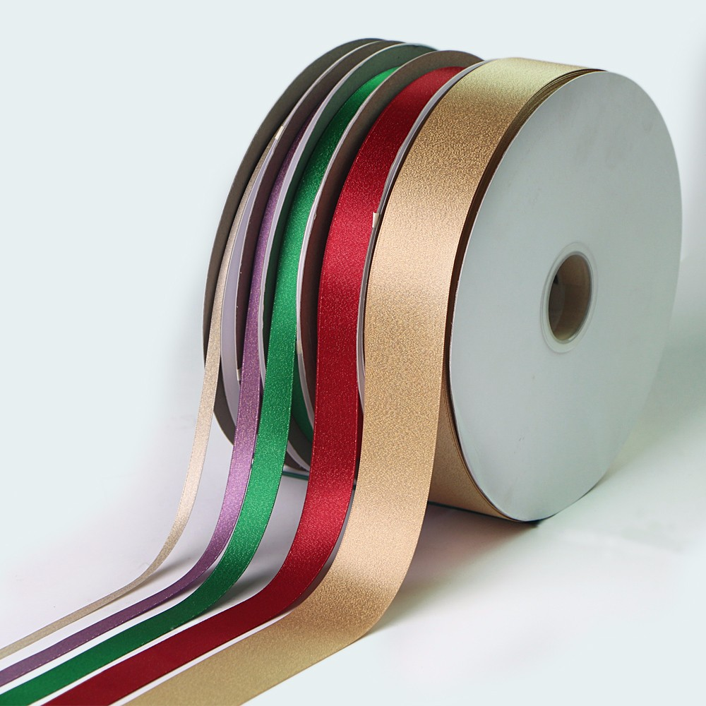 Gold Or Silver Metallic Satin Ribbon