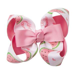 Personalized Printed Hair Clip Bow