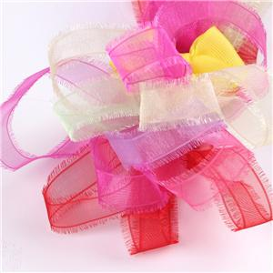 Organza Fringe Custom Ribbon voor decoratie
