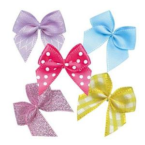 Customized Mini Satin Ribbon Bow for Bra Decoration Promotions
