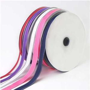 Ruban gros grain en polyester à tranchant métallique