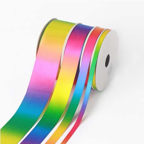 Dark Color Ombre Rainbow Ribbon