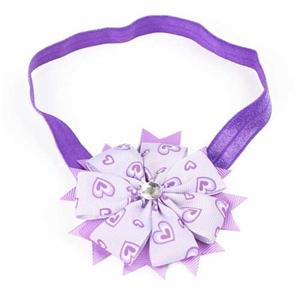Elastic Polyester Ribbon Bow Headband Flower for Baby and Girls