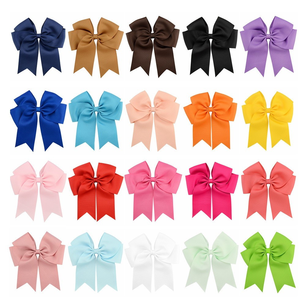 Wholesale Ribbon Bow Boutique Girls Hair Bows With Clips