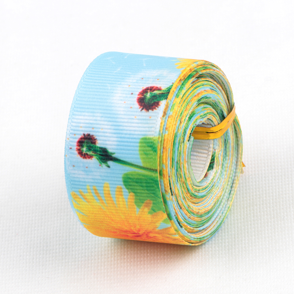 Heat Transfer Printed Grosgrain Ribbon Manufacturers, Heat Transfer Printed Grosgrain Ribbon Factory, Supply Heat Transfer Printed Grosgrain Ribbon