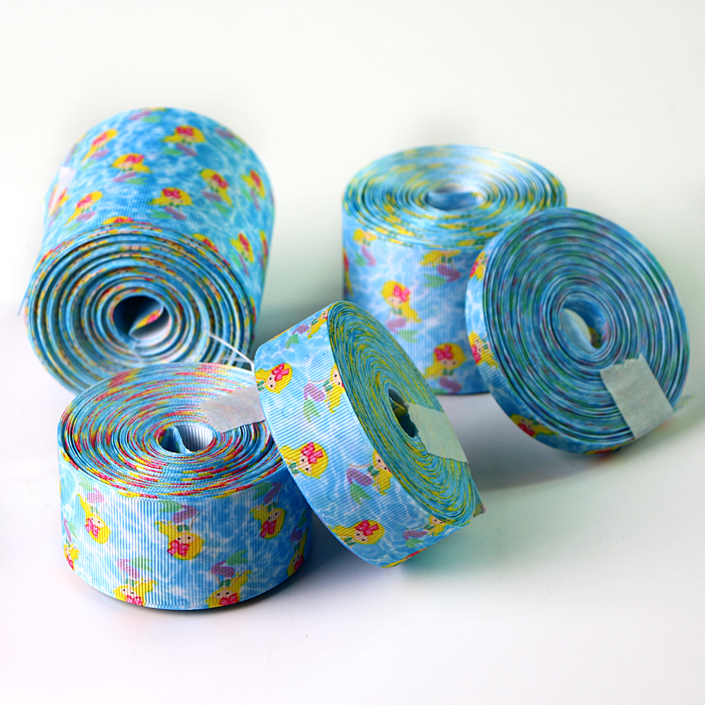 Multi-size Mermaid Printed Grosgrain Ribbon Manufacturers, Multi-size Mermaid Printed Grosgrain Ribbon Factory, Supply Multi-size Mermaid Printed Grosgrain Ribbon