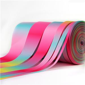 Groothandel Multicolor Gradient Grosgrain lint 50 Yards