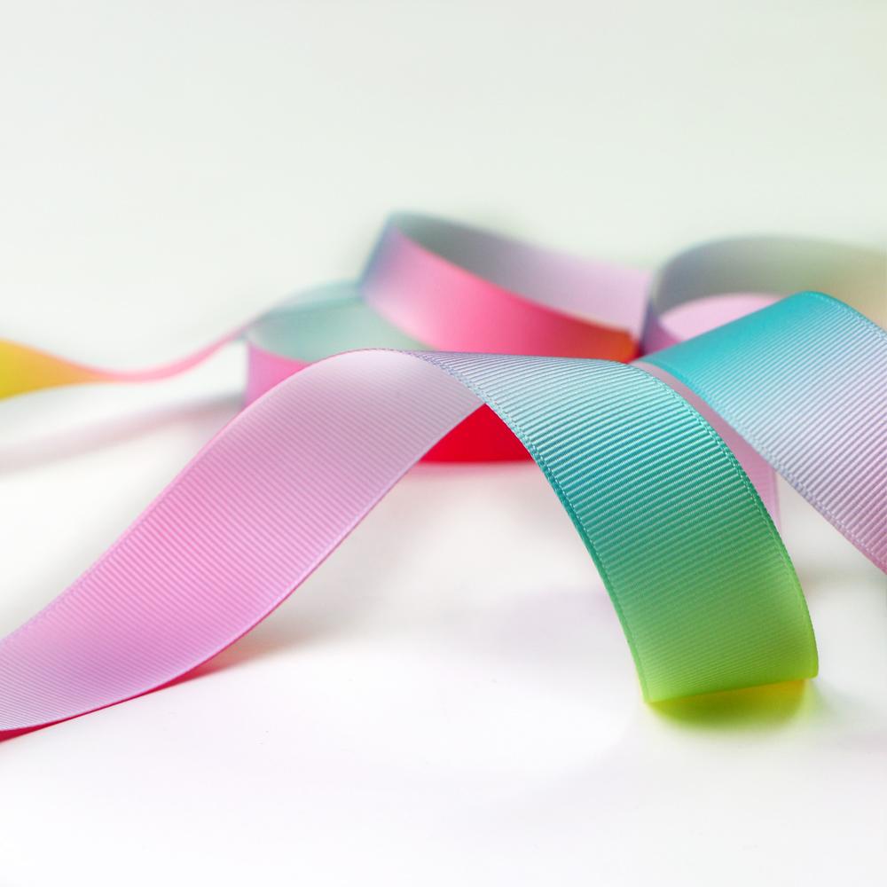 Wholesale Multicolor Gradient Grosgrain Ribbon 50 Yards Manufacturers, Wholesale Multicolor Gradient Grosgrain Ribbon 50 Yards Factory, Supply Wholesale Multicolor Gradient Grosgrain Ribbon 50 Yards