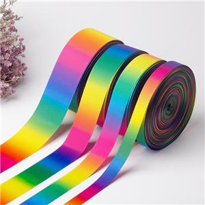 Atacado Multicolor Gradient Rainbow Grosgrain Ribbon