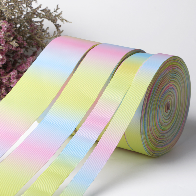 Venta al por mayor de Light Rainbow Grosgrain Ribbon por The Roll