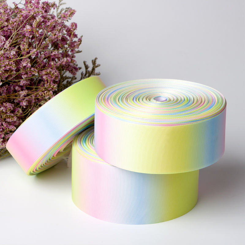 Wholesale Light Rainbow Grosgrain Ribbon by The Roll Manufacturers, Wholesale Light Rainbow Grosgrain Ribbon by The Roll Factory, Supply Wholesale Light Rainbow Grosgrain Ribbon by The Roll
