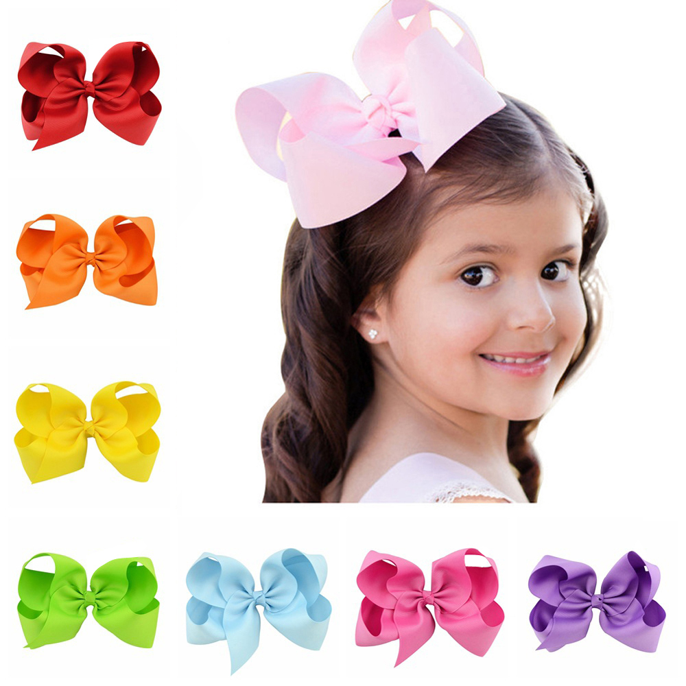Custom Wholesale Solid Grosgrain Hair Clip Bow