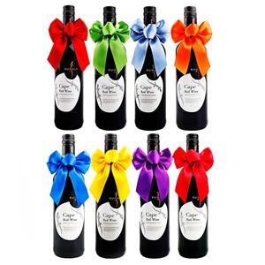 Custom Wine Bottle Decoration Ribbon Bows