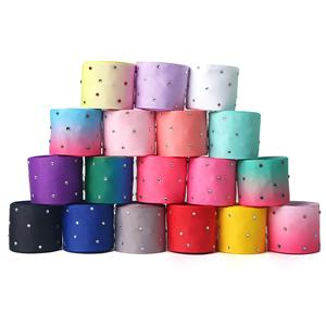 Custom Wholesale Grosgrain Ribbon with Rhinestones