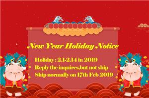 New Year Holiday Notice