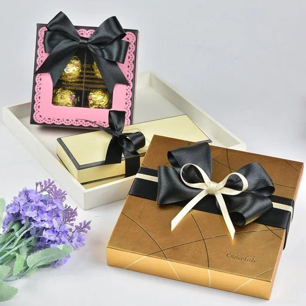 Pre-tied Satin Ribbon Bow With Elastic Loop
